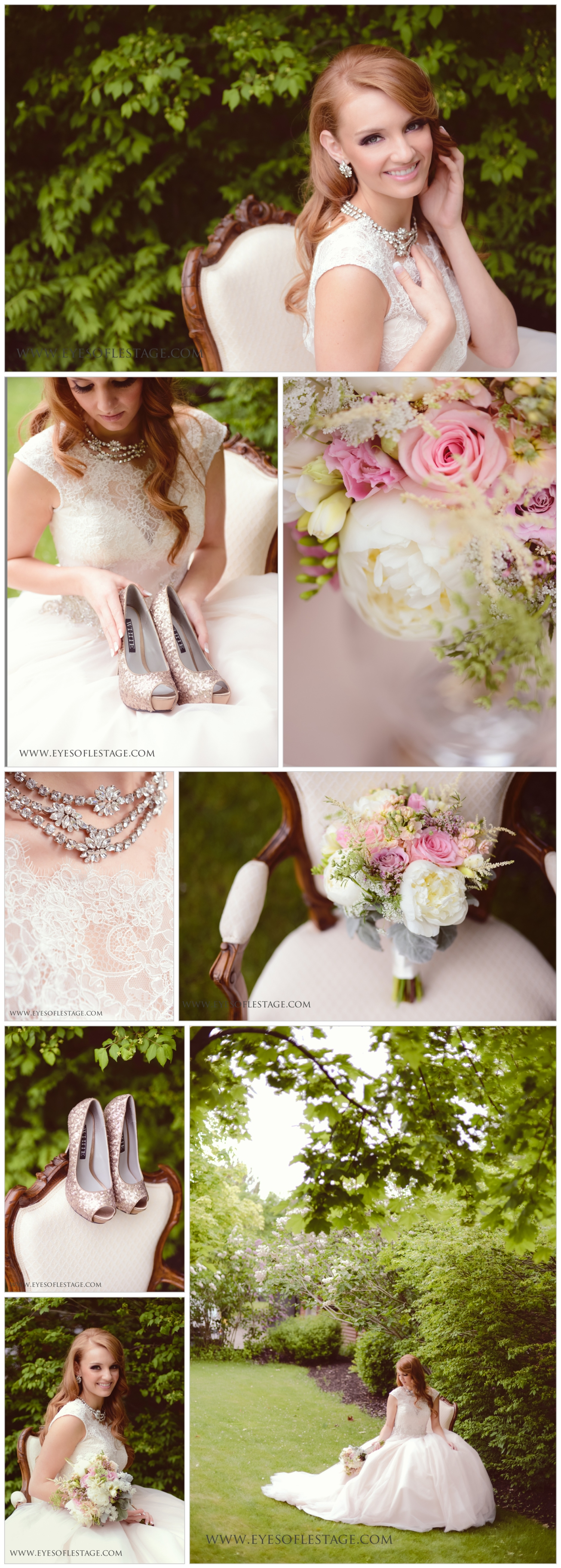 Parisian Bloom Styled Wedding Session at Okanagan Golf Course with Milestone Events