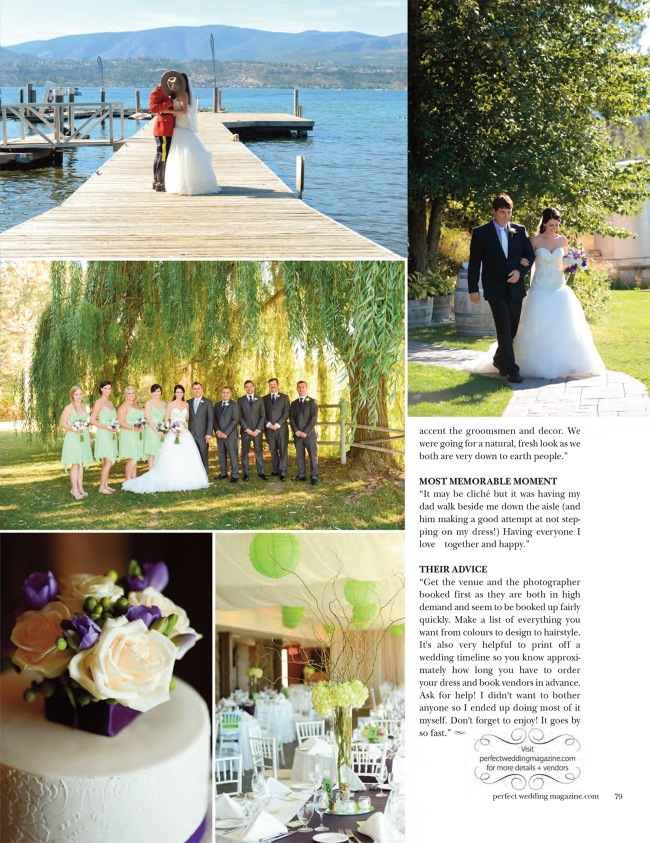 Summerhill Winery Wedding, RCMP wedding,