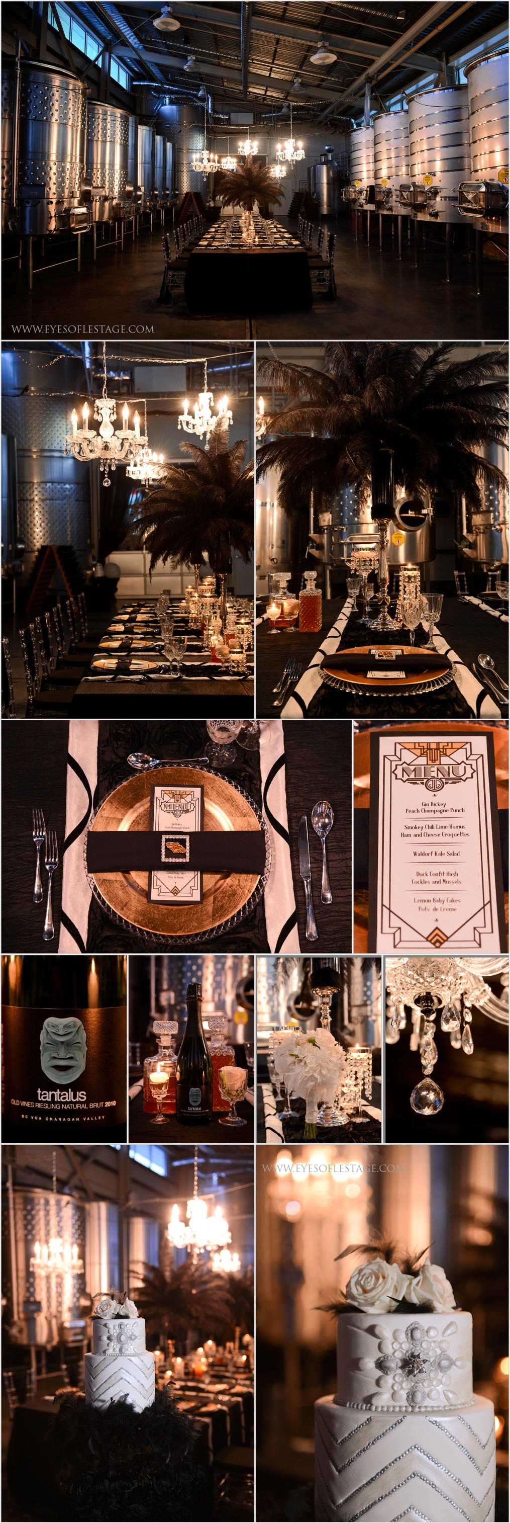 Tantalus Winery Private Reception Venue, Decor, Floral and Stationary - Stage Right Ect. Wedding Cake by Whisk Cake Company - Eyes of Le Stage Photography
