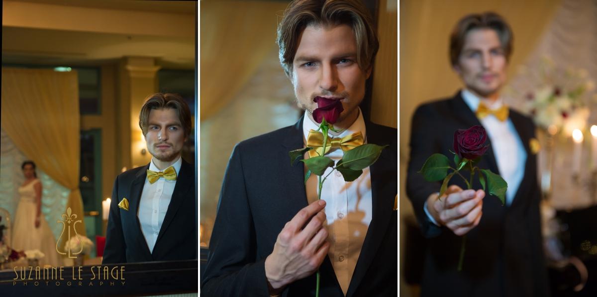 Kelowna Okanagan Wedding Photography Delta Grand Okanagan Gold bow tie